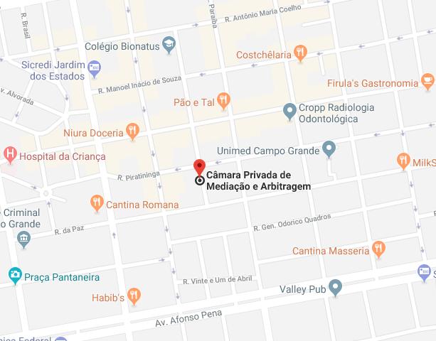 mapa-endereço-camara-privada-mediação-abitragem-campo-grande-ms